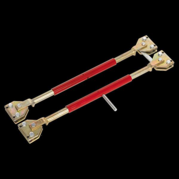 Sealey DR66 Door Restraining Bars Pack of 2 Thumbnail 1