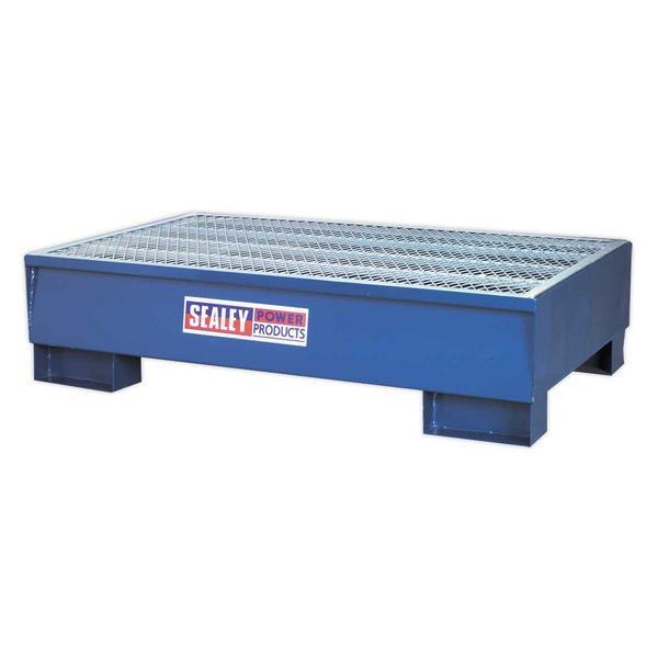 Sealey DRP10 Barrel Bund 1340 x 800 x 335mm (2 x 205L Capacity) Thumbnail 1