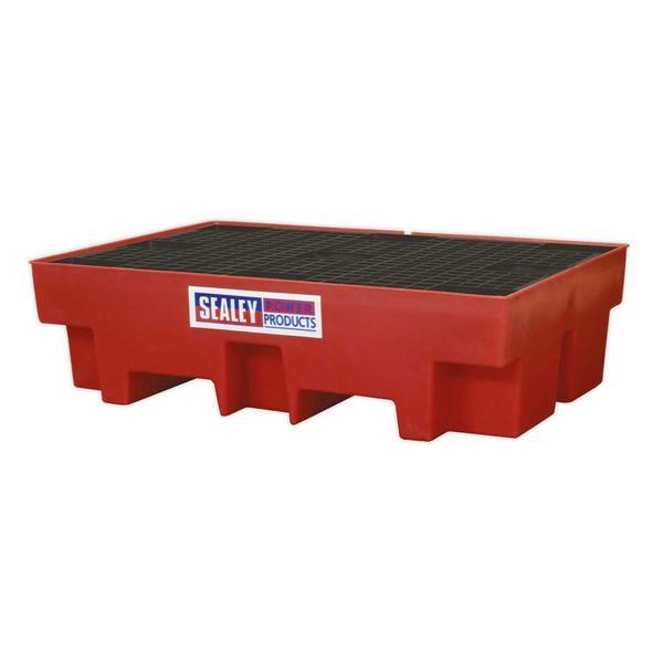 Sealey DRP12 Barrel Bund Polyethylene 1220 x 820 x 330mm (2 x 205L Capacity) Thumbnail 1