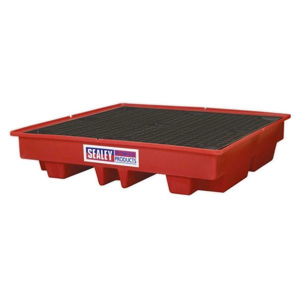 Sealey DRP13 Barrel Bund Polyethylene 1280 x 1280 x 275mm (4 x 205L Capacity) Thumbnail 1