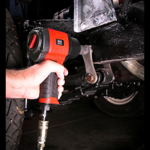 "Sealey GSA6002 Composite Air Impact Wrench 1/2"" Sq Drive Twin Hammer Thumbnail 3"