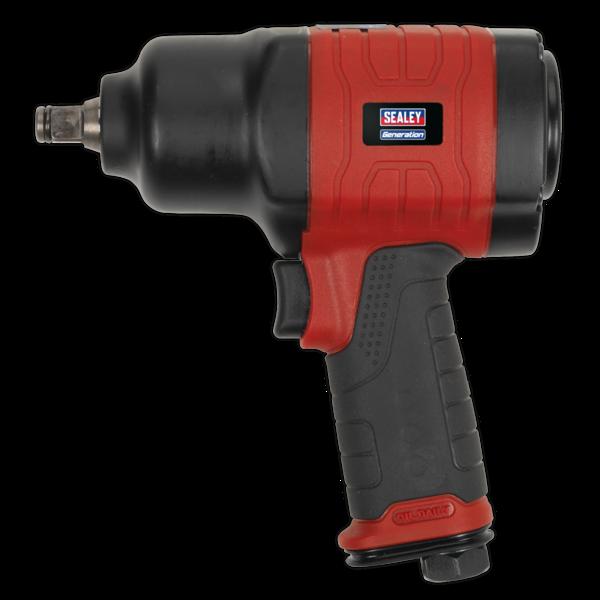 "Sealey GSA6002 Composite Air Impact Wrench 1/2"" Sq Drive Twin Hammer Thumbnail 2"