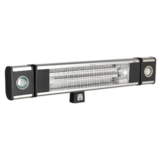 Sealey High Efficiency Carbon Fibre Infrared Wall Heater 1800W/230V LED Lights