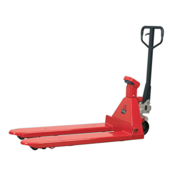 Sealey PT1150SC Pallet Truck 2000kg 1150 x 555mm with Scales Thumbnail 1
