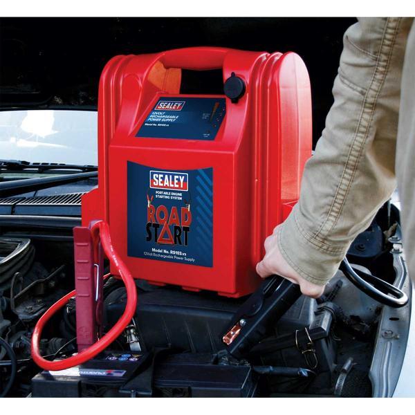 Sealey RS103 RoadStart Emergency Power Pack 12V 3200 Peak Amps Thumbnail 2