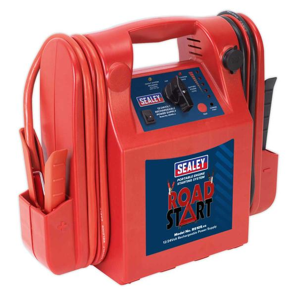 Sealey RS105 RoadStart Emergency Power Pack 12/24V 3200/1600 Peak Amps Thumbnail 1
