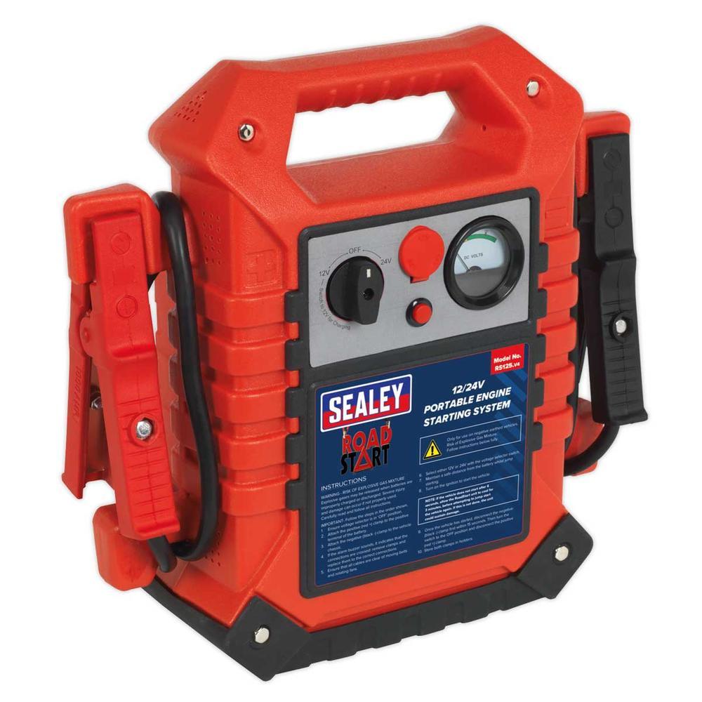 Sealey RS125 RoadStart Emergency Power Pack 12/24V 3000 Peak Amps