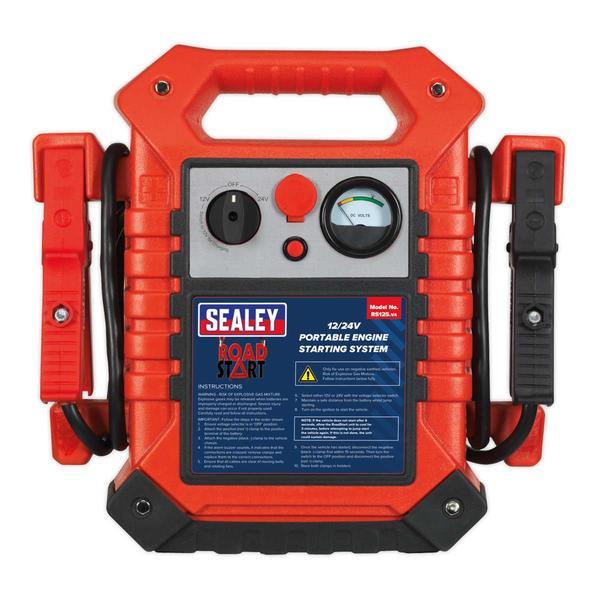 Sealey RS125 RoadStart Emergency Power Pack 12/24V 3000 Peak Amps Thumbnail 3