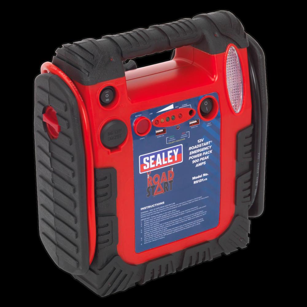 Sealey RS131 RoadStart Emergency Power Pack 12V 750 Peak Amps