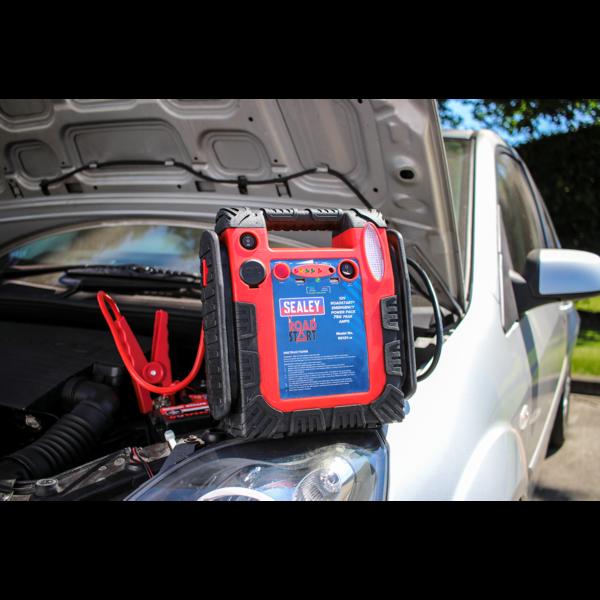 Sealey RS131 RoadStart Emergency Power Pack 12V 750 Peak Amps Thumbnail 7