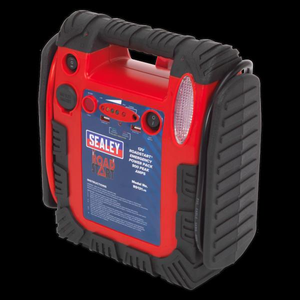 Sealey RS131 RoadStart Emergency Power Pack 12V 750 Peak Amps Thumbnail 4