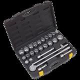 "Sealey S0713 Socket Set 26pc 3/4"" Sq Drive 12pt WallDrive DuoMetric"