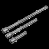 "Sealey S0718 Extension Bar Set 1/4""Sq Drive 3pc"