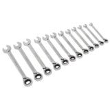 Sealey S0840 Reversible Ratchet Combination Spanner Set 12pc Metric