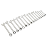 Sealey S0869 Combination Ratchet Spanner Set 16pc Metric