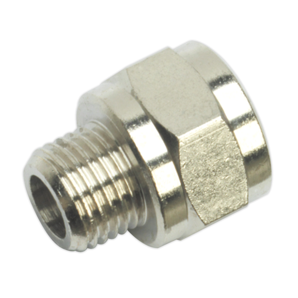 "Sealey SA1/1438F Adaptor 1/4"" BSPT Male to 3/8"" BSP Female Thumbnail 1"