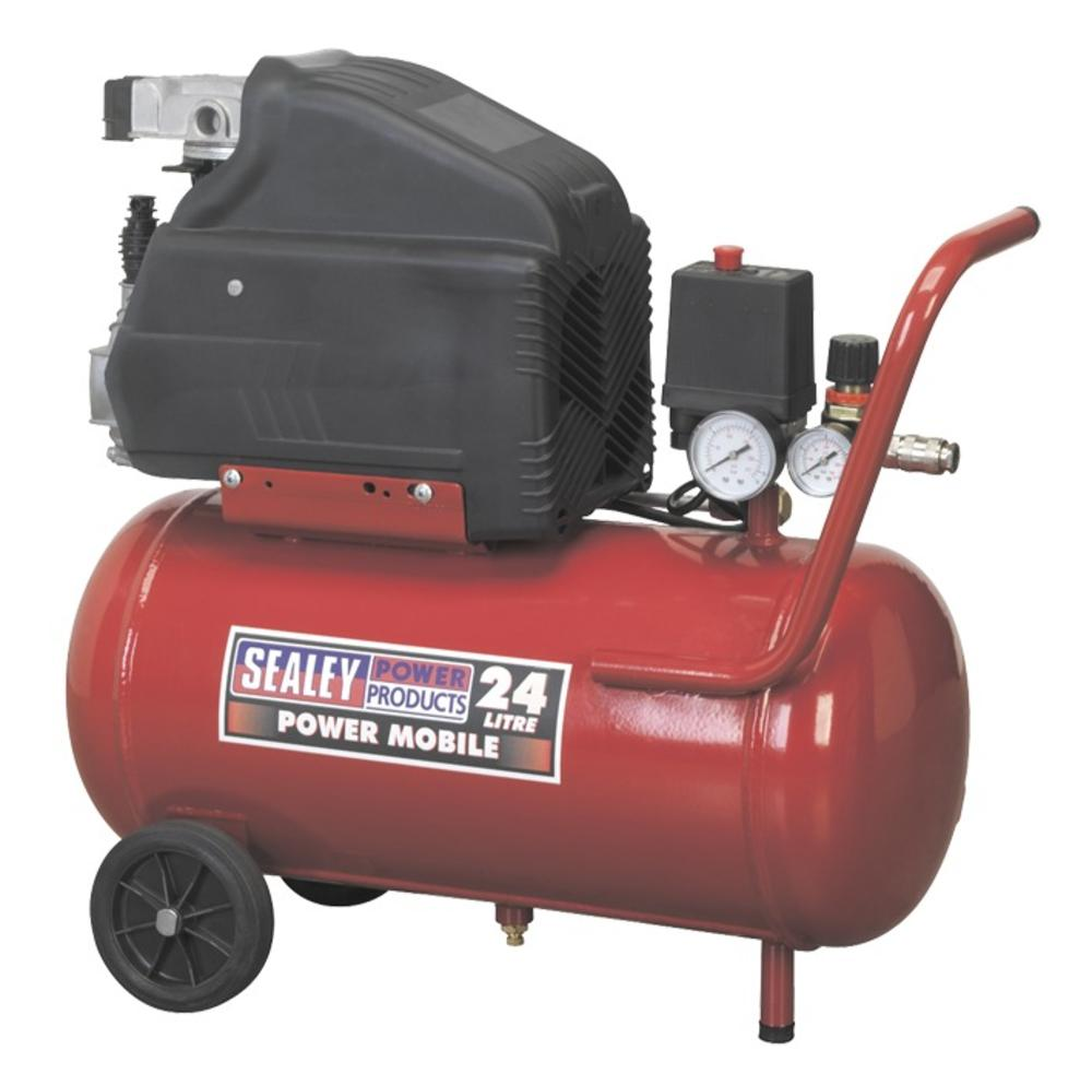 Sealey SA2415 Air Compressor 24L Direct Drive 1.5hp