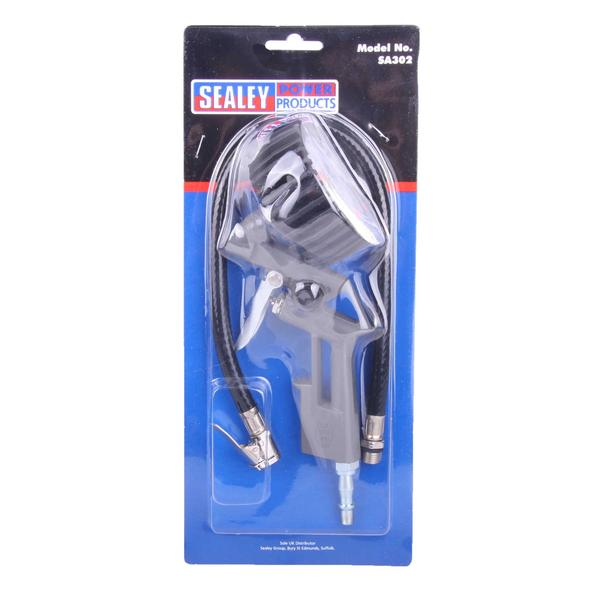 Sealey SA302 Tyre Inflator with Gauge For Use With A Compressor Thumbnail 2