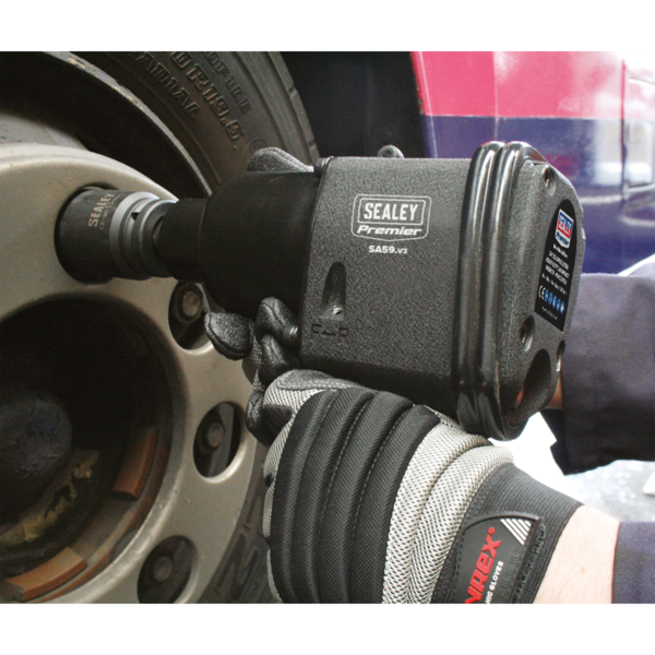 "Sealey SA59 Air Impact Wrench 3/4"" Sq Drive Extra Heavy-Duty  Thumbnail 3"