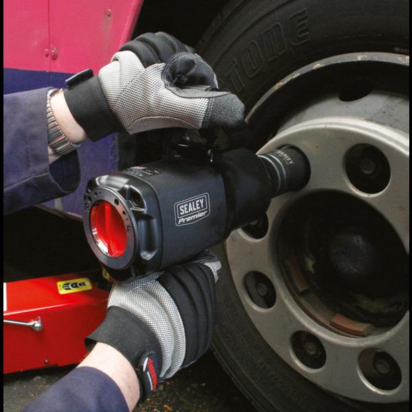 "Sealey SA6005 Air Impact Wrench 1"" Sq Drive Twin Hammer Composite Thumbnail 2"