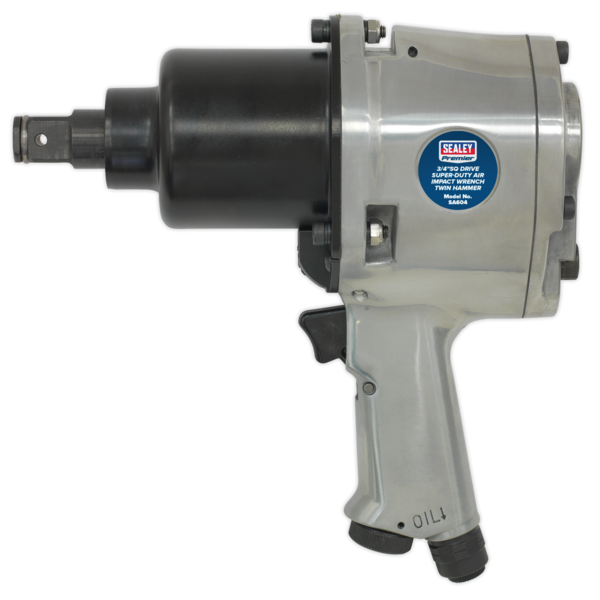 "Sealey SA604 Air Impact Wrench 3/4""Sq Drive Super-Duty Heavy Twin Hammer Thumbnail 2"
