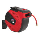 Sealey SA824 Auto Rewind Control Air Hose Reel 30mtr 10mm Dia. ID - Rubber Hose