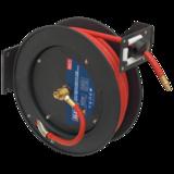Sealey SA841 Retractable Air Hose Metal Reel 15mtr 10mm Dia. ID Rubber Hose