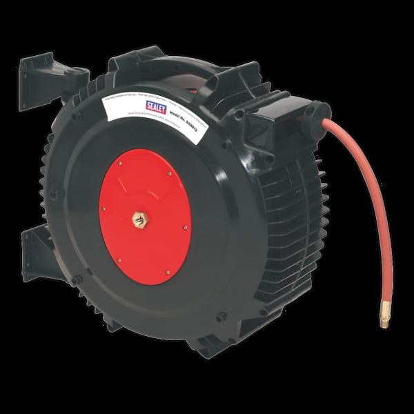 Sealey SA8812 Retractable Air Hose Reel 15mtr 13mm Dia. ID TPR Hose Thumbnail 1