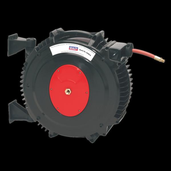 Sealey SA8812 Retractable Air Hose Reel 15mtr 13mm Dia. ID TPR Hose Thumbnail 3