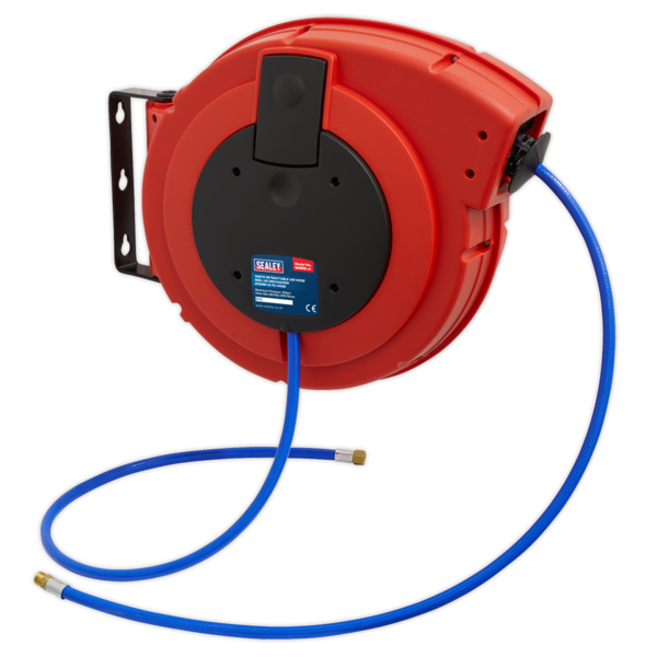 Sealey Retractable Air Hose Reel HD Mechanism 10M 10mm Dia. ID Polyurethane Hose Thumbnail 1