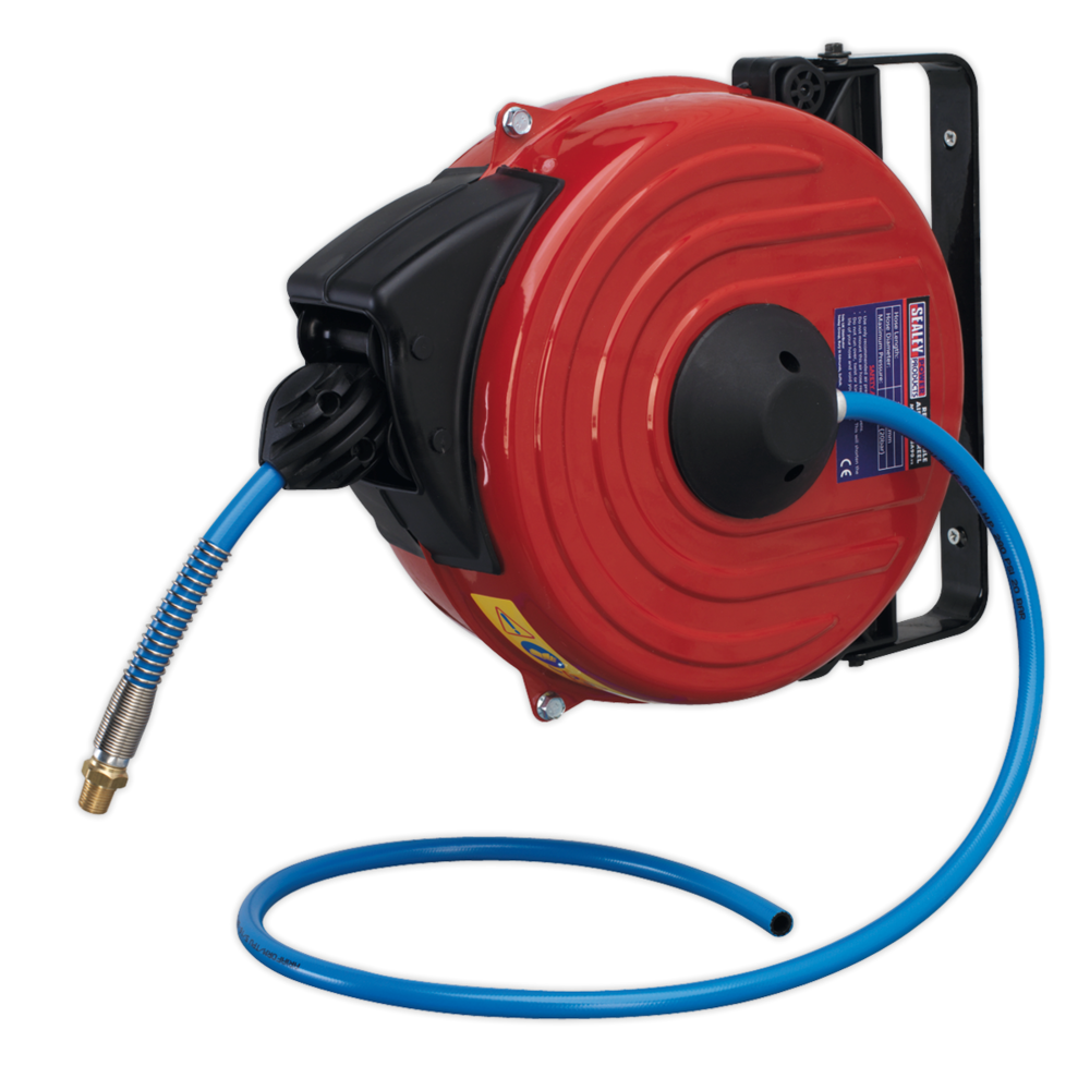 Sealey SA90 Retractable Air Hose Reel 12mtr 8mm Dia. ID TPU Hose