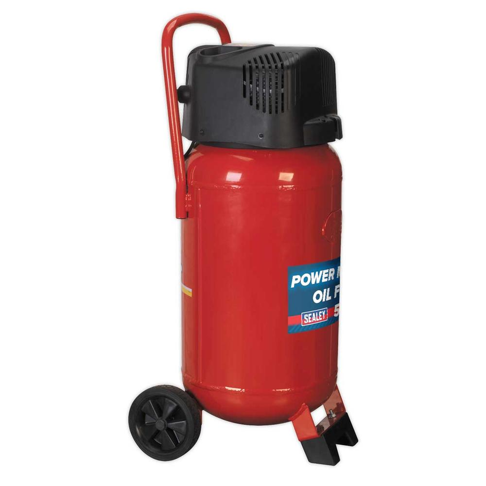 Sealey SAC05020 Air Compressor 50L Belt Drive 2hp Oil Free