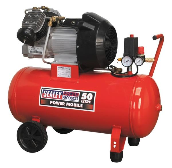 Sealey SAC05030 Air Compressor 50L Direct Drive 3hp Thumbnail 1