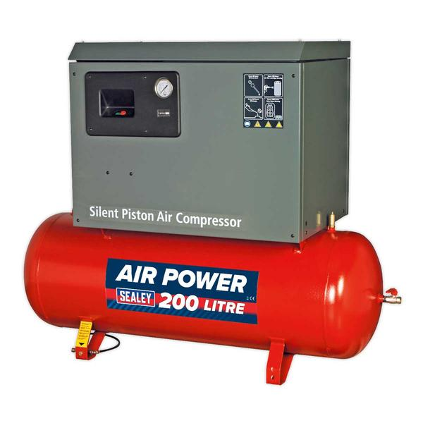 Sealey SAC2203BLN Compressor 200ltr Belt Drive 3hp with Cast Cylinders Low Noise Thumbnail 1