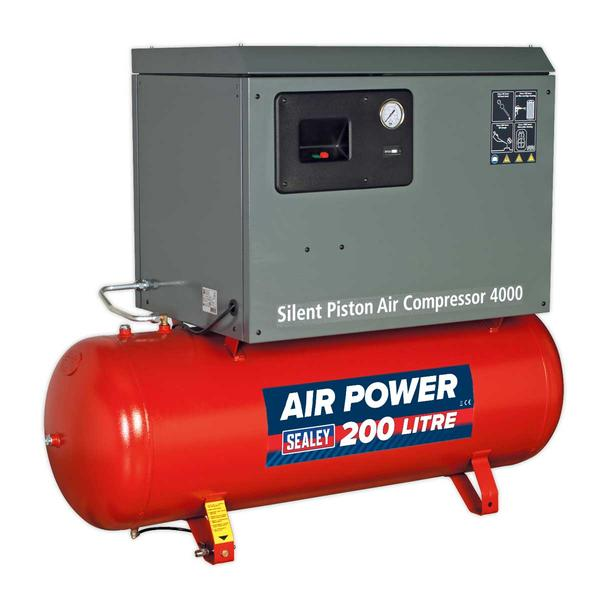 Sealey SAC2203BLN Compressor 200ltr Belt Drive 3hp with Cast Cylinders Low Noise Thumbnail 2
