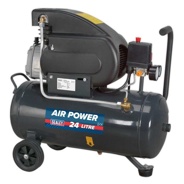 Sealey SAC2420E Compressor 24ltr Direct Drive 2hp Thumbnail 1