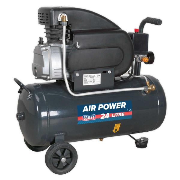 Sealey SAC2420E Compressor 24ltr Direct Drive 2hp Thumbnail 2