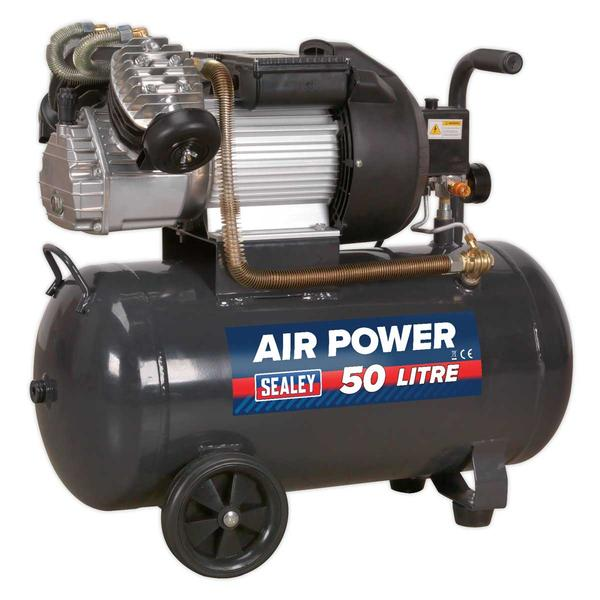 Sealey SAC5030VE Compressor V-Twin 50ltr Direct Drive 3hp116psi (8bar) 230V Thumbnail 2