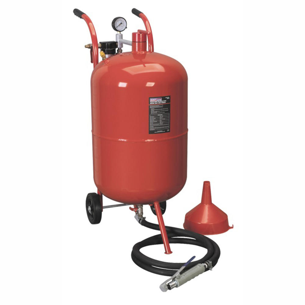 Sealey SB998 Shot Blaster with Water Trap & Wheels 75 Litre