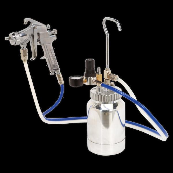 Sealey SSG1P Pressure Pot System with Spray Gun & Hoses 1.8mm Set-Up Thumbnail 1