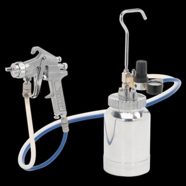 Sealey SSG1P Pressure Pot System with Spray Gun & Hoses 1.8mm Set-Up Thumbnail 2