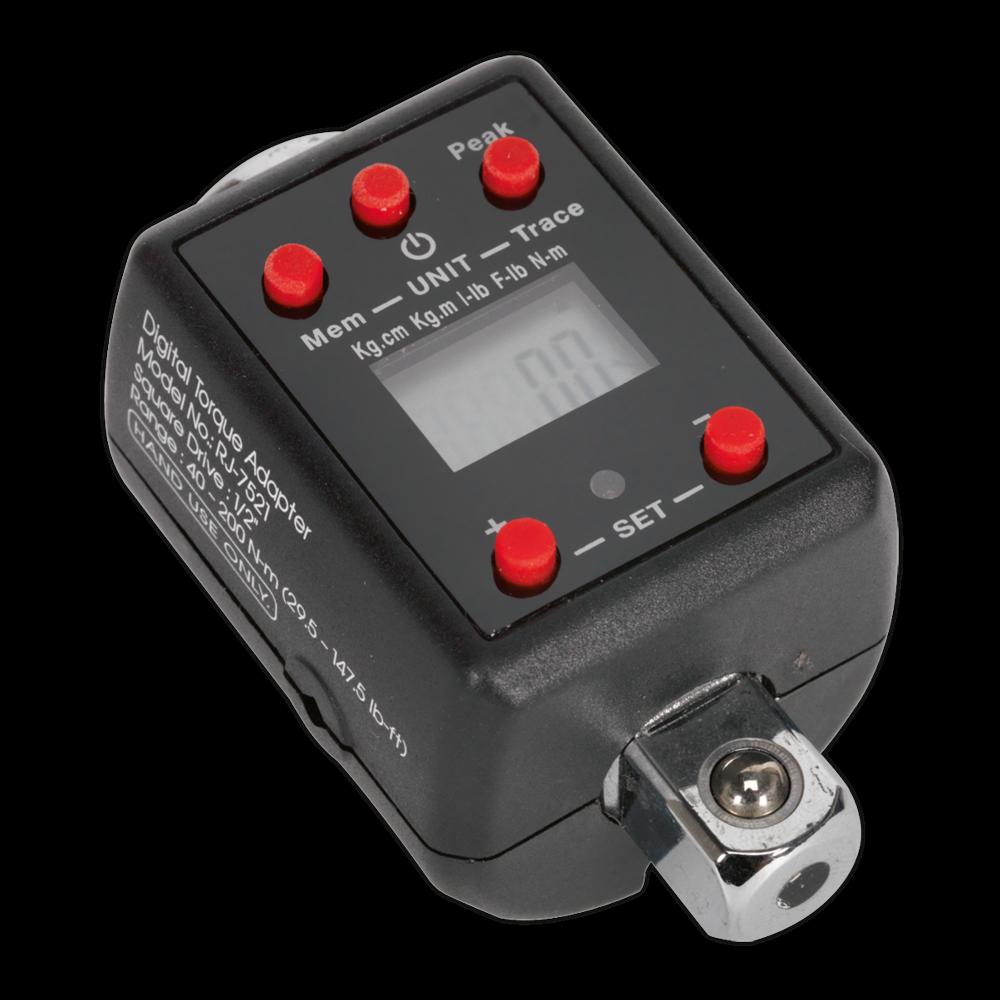 "Sealey Torque Adaptor Digital 1/2""Sq Drive 40-200Nm Large LCD display with Alarm"