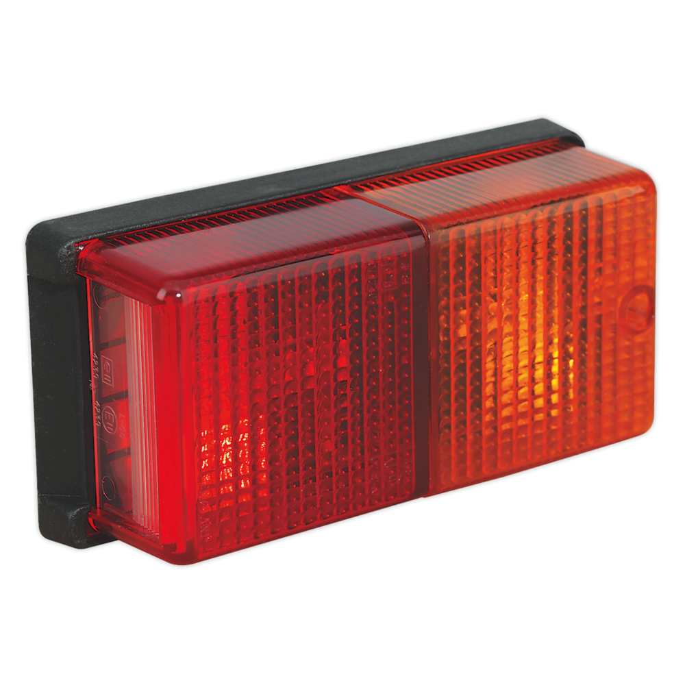 Sealey TB19 Rear Rectangular Lamp Cluster 4-Function 12V with Bulbs