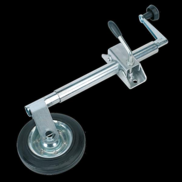 Sealey TB371 Jockey Wheel & Clamp Ø35mm - 150mm Solid Wheel Thumbnail 1