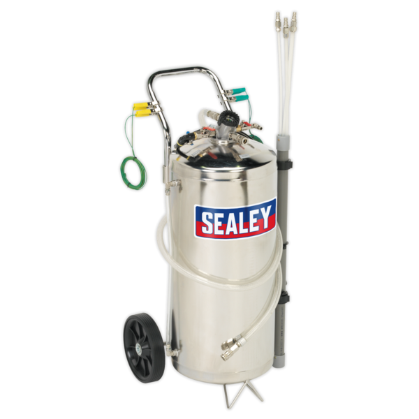 Sealey TP200S Air Operated Fuel Tank Drainer Stainless 40ltr Thumbnail 1