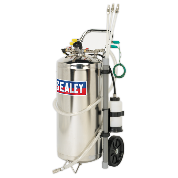 Sealey TP200S Air Operated Fuel Tank Drainer Stainless 40ltr Thumbnail 2