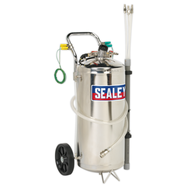 Sealey TP200S Air Operated Fuel Tank Drainer Stainless 40ltr Thumbnail 3