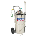 Sealey TP200S Air Operated Fuel Tank Drainer Stainless 40ltr