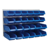 Sealey TPS131 Bin & Panel Combination 24 Bins - Blue