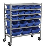 Sealey TPS22 Mobile Bin Storage System 22 Bins